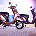 Honda Activa-I beige and purple