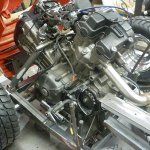 Honda super lawnmover engine on chassis