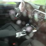 Interior of the BMW 4 Series Coupe spied in Germany