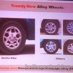 Mahindra Vibe vs competitors alloy wheels