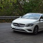 Mercedes A Class A180 with lights on