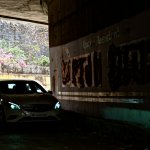 Mercedes A Class in a tunnel