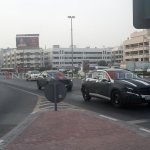 Mercedes Benz GLA Class spied in Dubai front three quarter