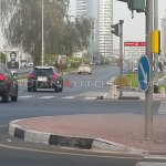 Mercedes Benz GLA Class spied in Dubai rear