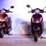 Purple and beige Honda Activa-I