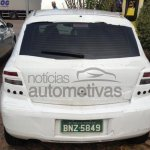 Rear of the 2014 Chevrolet Agile spied in Brazil