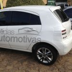 Rear three quarter of the 2014 Chevrolet Agile spied in Brazil
