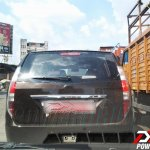Rear view of the Tata Aria facelift caught testing