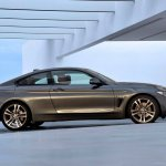 Side angle of the grey 2014 BMW 4 Series Coupe