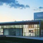 The facade of the Hyundai Nurburgring Test centre