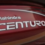 badge of of the Mahindra Centuro
