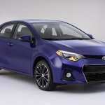 front three quarter of 2014 Toyota Corolla S