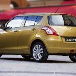 rear left three quarter of the 2014 Suzuki Swift accidentally revealed