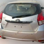rear of the 2014 Toyota Yaris spotted in China