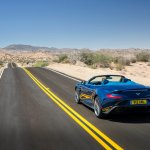 rear of the Aston Martin Vanquish Volante topless
