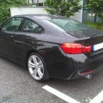 rear of the BMW 4 Series Coupe spied in Germany