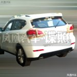 rear of the Haval H2 spied in China