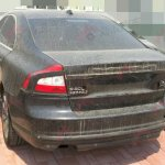 rear of the Volvo S80L T6 facelift spied in China