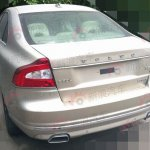rear of the Volvo S80L facelift spied in China