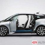 2014 BMW i3 doors open