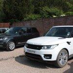 2014 Range Rover Sport next to a 2013 Range Rover