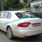 2014 Skoda Superb facelift spied in India