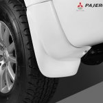 Body colored mud guard of the Mitsubishi Pajero Sport Anniversary Edition