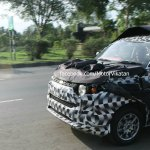 Bonnet of the Mahindra S101 spied