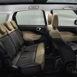 Fiat 500L Living rear seat