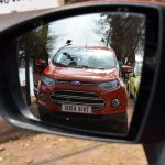 Ford EcoSport on the rear view mirror