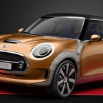 Front three quarte of the MINI Vision design concept