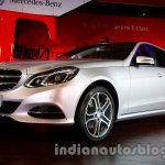 Front three quarter angle of the 2014 Mercedes E Class