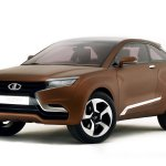 Front three quarter of Lada X-ray concept
