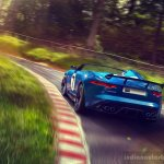 Jaguar Project 7 cornering
