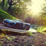 Jaguar Project 7 through a bend