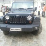Jeep Wrangler spied in India front