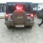 Jeep Wrangler spied in India rear