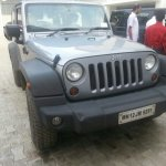 Jeep Wrangler spied in India side three quarter