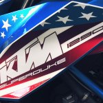 KTM Super Duke 1290 production version US special livery's tank decal