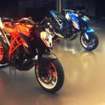 KTM Super Duke 1290 production version with prototype