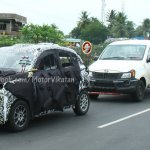 Mahindra S101 spied front three quarter