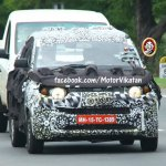 Mahindra S101 spied front