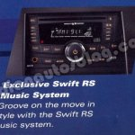 Maruti Swift RS music system