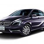 Mercedes B180 Northern Lights Black special edition front