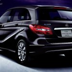 Mercedes B180 Northern Lights Black special edition rear view