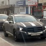 Mercedes GLA spied in Dubai