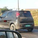 New Fiat Uno facelift spied rear three quarter