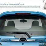New Honda Brio facelift rear bootlid