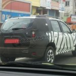 Nissan Terrano spied rear three quarter
