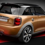 Rear three quarter of the MINI Vision design concept